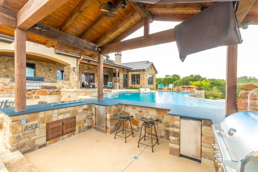 pool deck and bar
